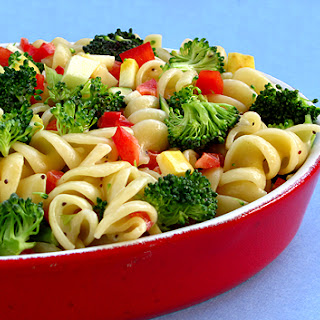 Light and Healthy Pasta Salad.