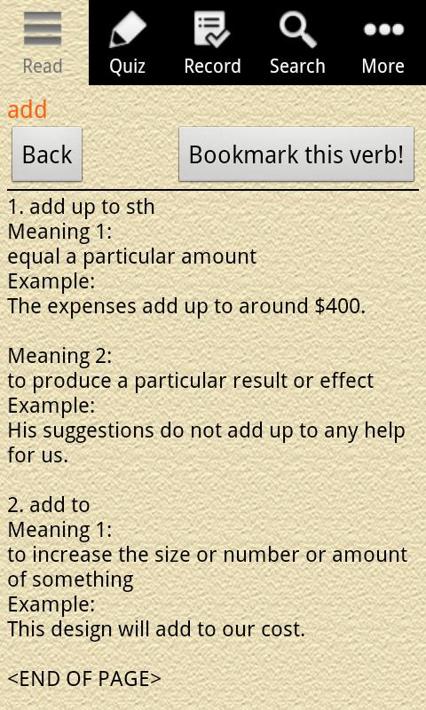 English Grammar – Phrasal Verb Screenshot 1