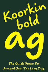 Download Koorkin Bold FlipFont Apk 1 0,com monotype android font