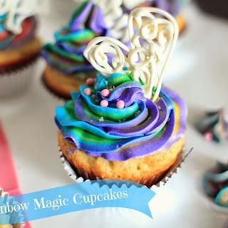 Rainbow Magic Cupcakes with Vanilla Buttercream.