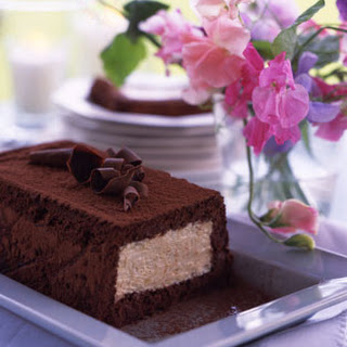 Mocha Cake with Malted Semifreddo