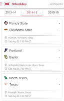 Screenshot of Big 12 Sports