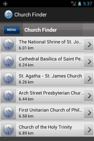 Church Finder- screenshot