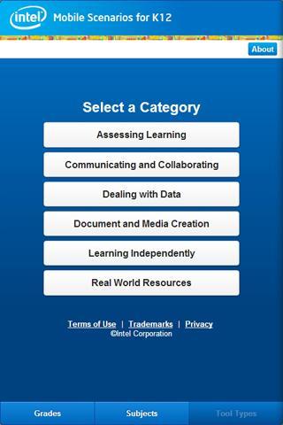 Mobile Scenarios for K12 - screenshot