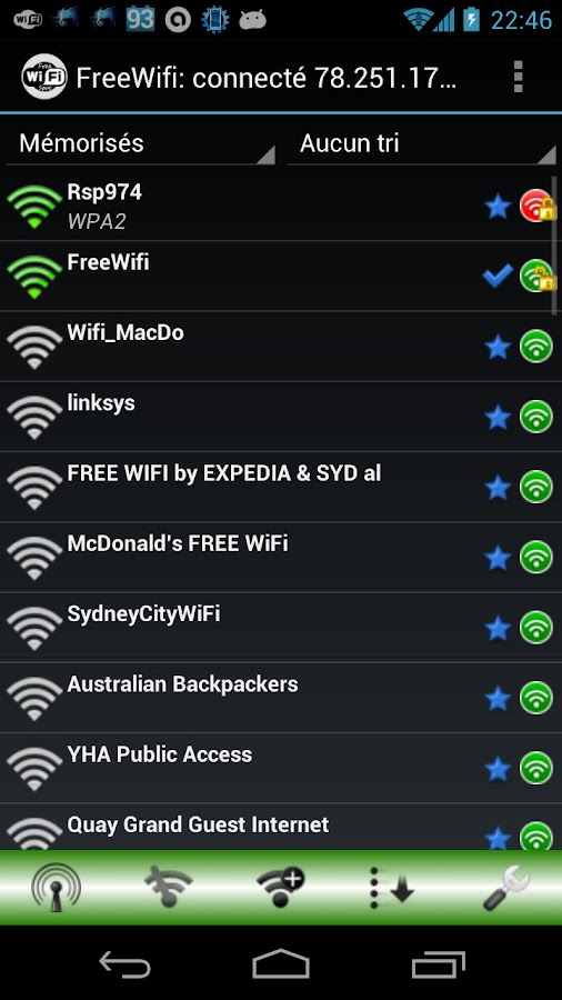 Free WiFi Spot - screenshot