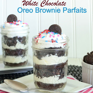 White Chocolate Oreo Brownie Parfait