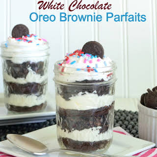 White Chocolate Oreo Brownie Parfait.