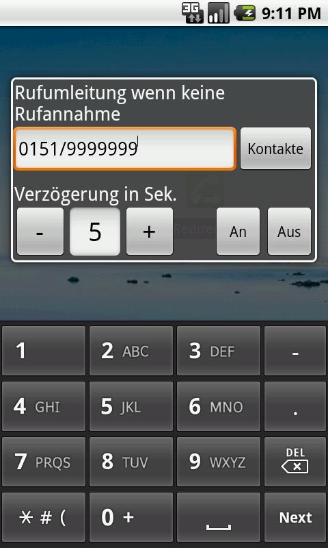 RedirectCall-call forwarding- screenshot
