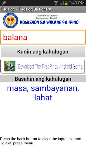 Tagalog - Tagalog Dictionary 2017 screenshots 2