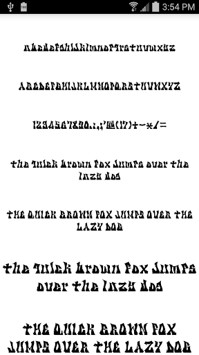 Fonts for FlipFont Tattoo