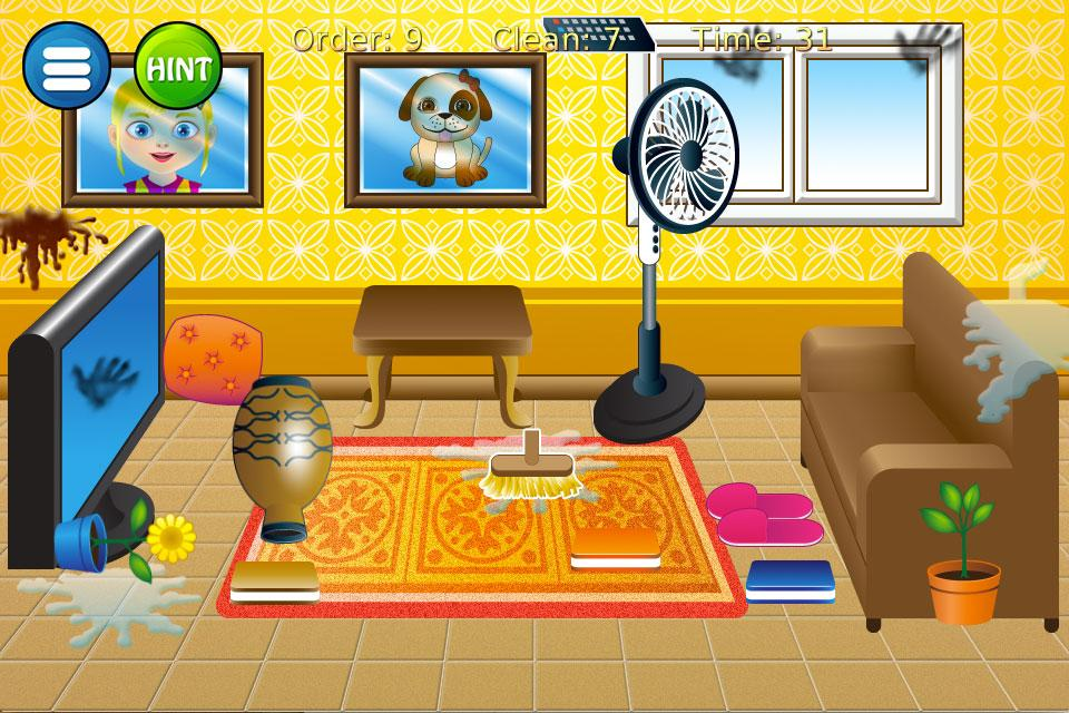 Cleaning House Game Screenshot