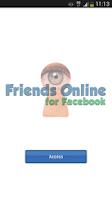 Screenshot of Friends Online for Facebook