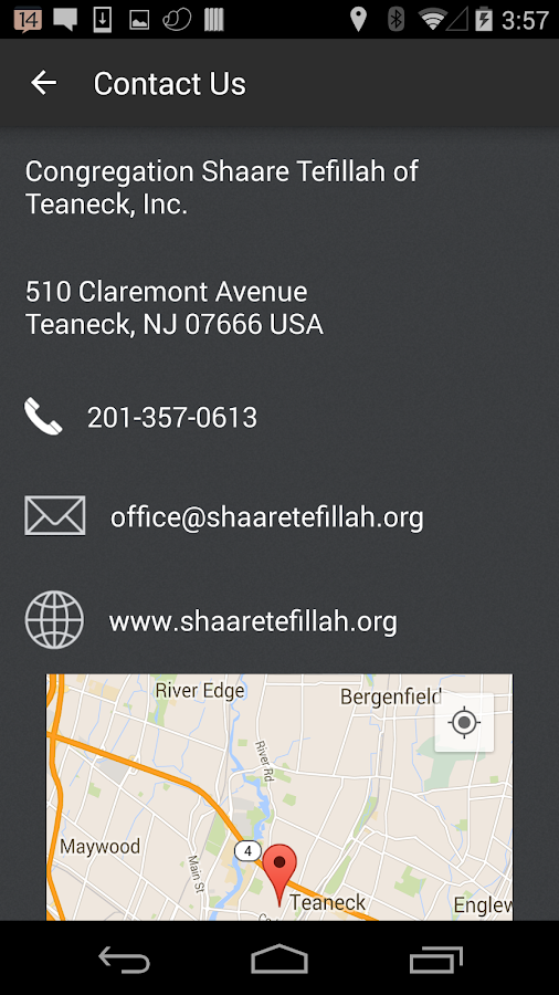 Shaare Tefillah of Teaneck- screenshot
