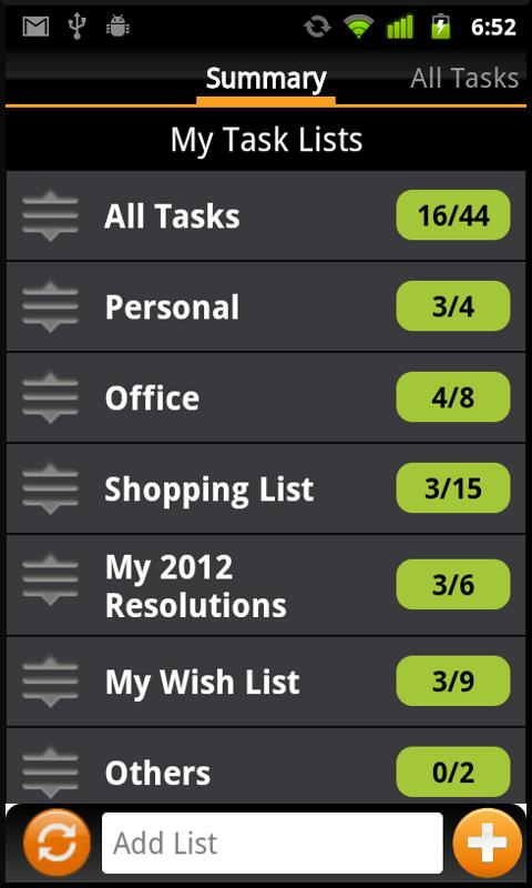 TNT Lite To-Do List (Non Eng)- screenshot