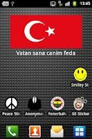 Screenshot of Turk Bayragi Sticker Widget
