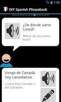 Screenshot of DIY Spanish Phrasebook