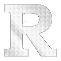 Diamond letter R sticker logo