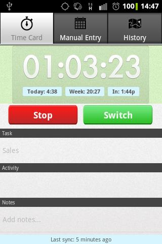 Employee Time Tracker with GPS - screenshot