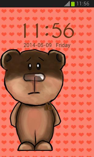 GO鎖屏可愛的玩具熊