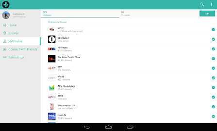 TuneIn Radio Pro Screenshot 4