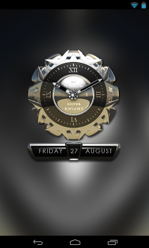 【免費個人化App】Silver Knight Clock Widget-APP點子