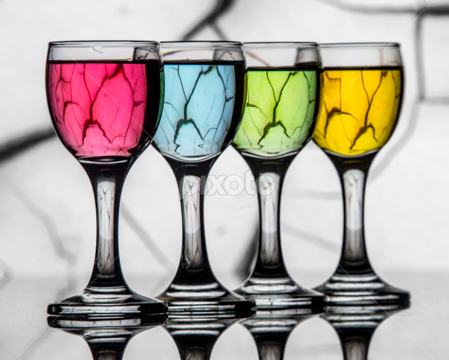 Cracked by Fahad Iqbal - Artistic Objects Glass ( water, reflection, creative, colorful, glass, artistic, refraction )