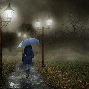 Rainy Evening. by Michael Dalmedo - Digital Art Places (  )