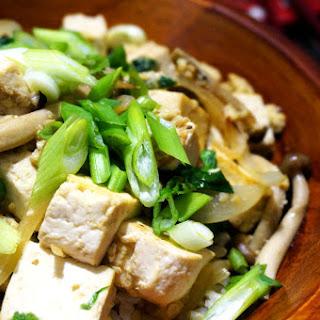 Tofu & Mushroom Donburi.