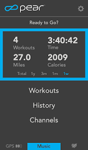 PEAR workout coach for running - screenshot thumbnail
