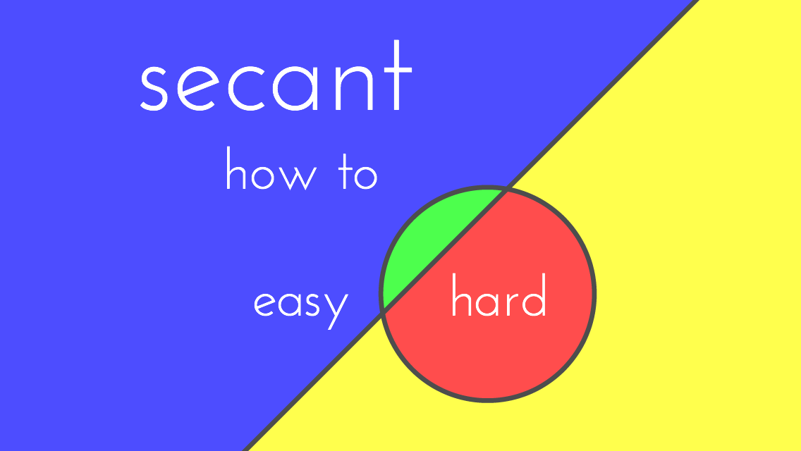 Secant: A Game of Sorts- screenshot