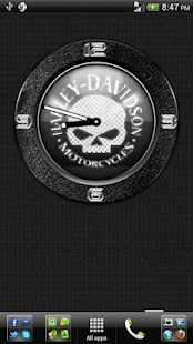 H-D Skull Clock Widget - screenshot thumbnail