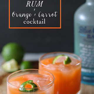 Rum + Orange + Carrot Cocktail and Giveaway.
