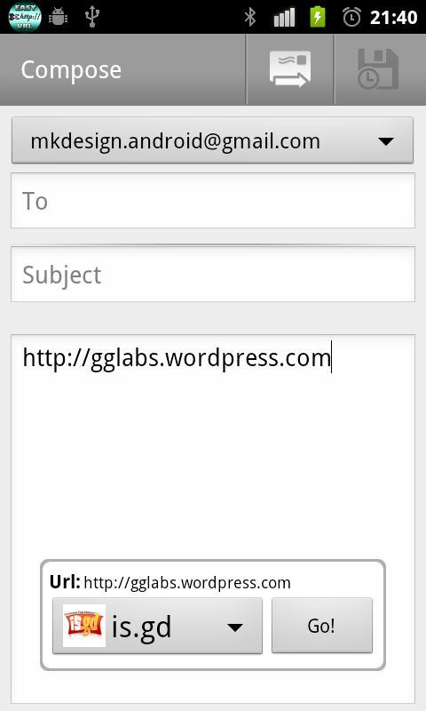 Easy URL Shortener- screenshot