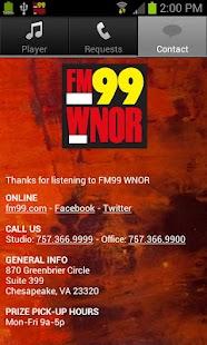 FM99 WNOR - screenshot thumbnail