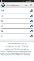 Screenshot of Medical Abbreviations PL