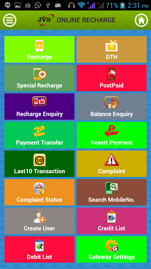 JVS Online Recharge- screenshot