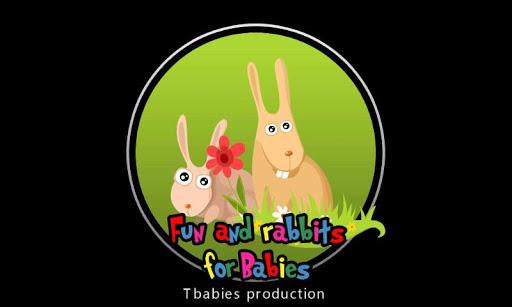 赤ちゃんのためのウサギと楽しい