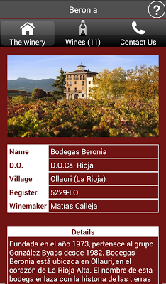 Wineries of Spain - Wines - screenshot