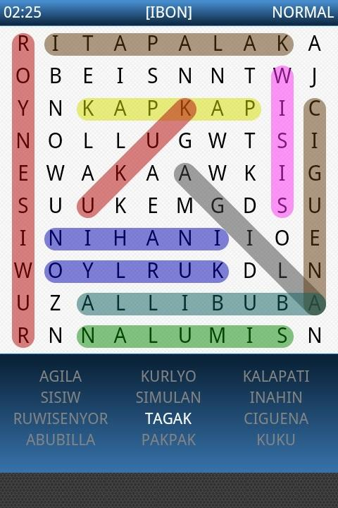 Pinoy Word Search - screenshot