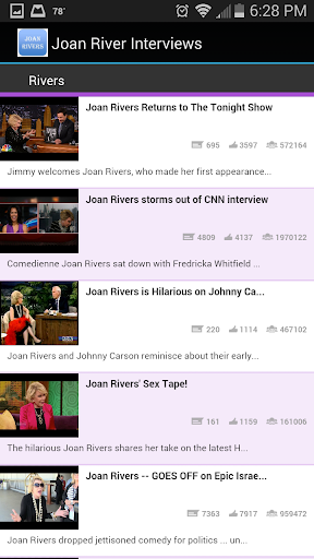 Joan Rivers Interviews