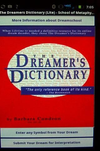 The Dreamers Dictionary (Lite) - screenshot