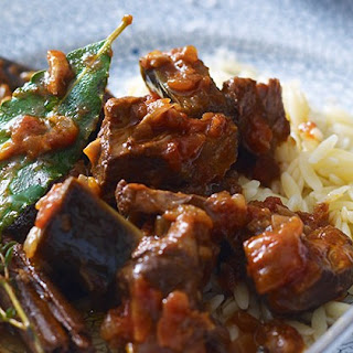 Slow-cooked Lamb With Aubergines