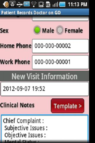 Patient Records Doctor ON GO-T- screenshot