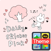 Daily sticker(pink) K