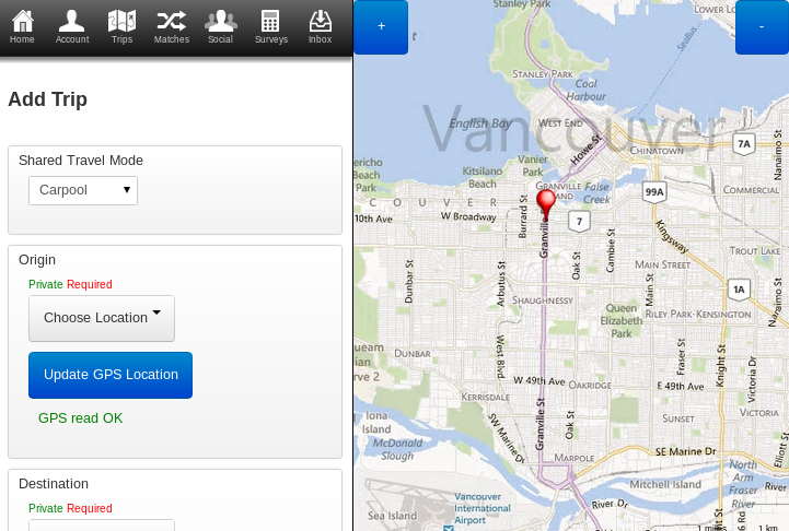 Ride-Share for BC- screenshot