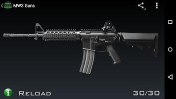 Screenshot of MW3 Guns