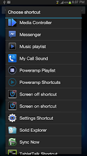 Poweramp Media Shortcuts - screenshot thumbnail