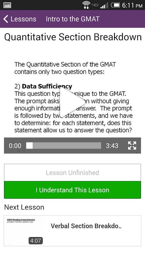 Magoosh GMAT Prep - screenshot