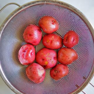 Slow Cooker Brats with Sauerkraut + Potatoes.