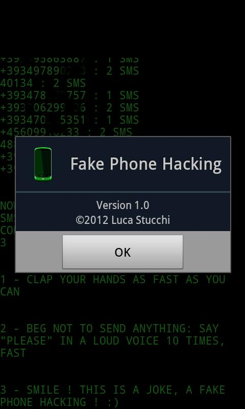 Fake Phone Hacking - screenshot